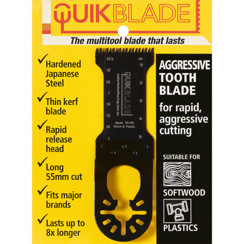 Quikblade aggressive tooth multitool blade package