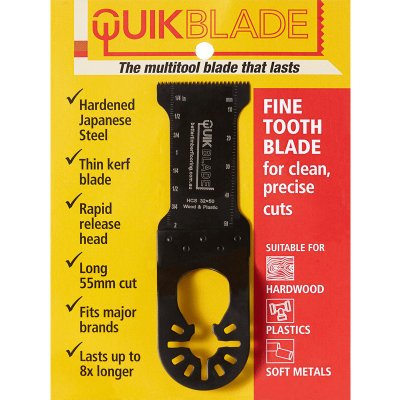 QuikBlade Fine Tooth Oscillating Multi-Tool Blade in Packaging