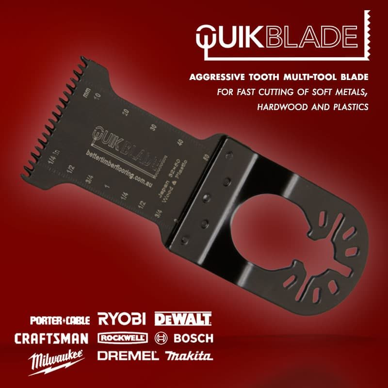 Aggressive Tooth Style Multi-tool blade. Compatible with all major brands.