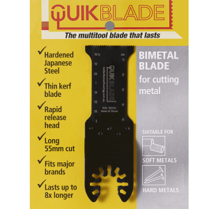 quikblade bimetal blade packaging