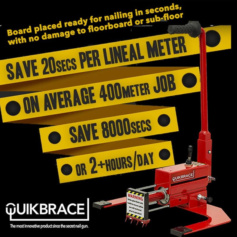 QuikBrace Flooring Machine Benefits