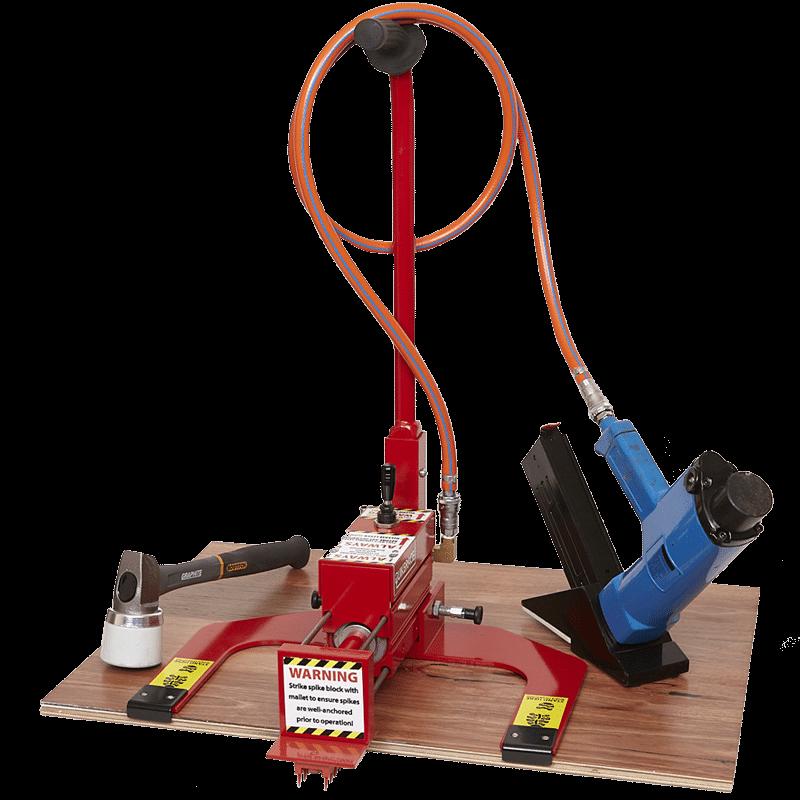 QuikBrace timber floor machine