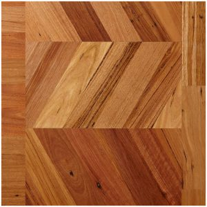 Chevron Parquetry with Borders Shown