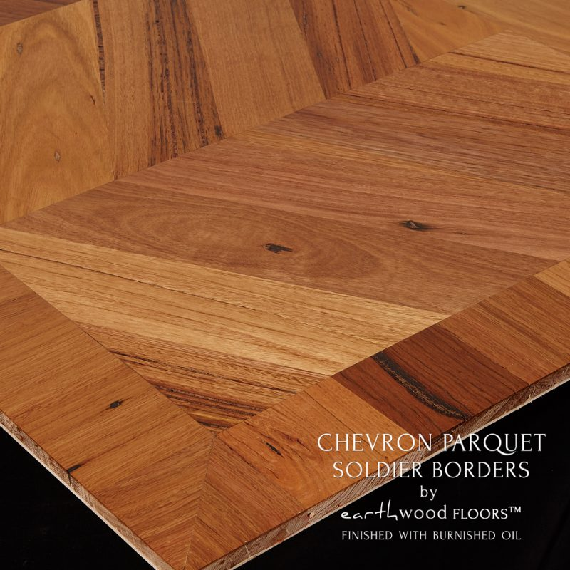 100mm Parquet Borders Soldier Style. Burnished Oil Finish