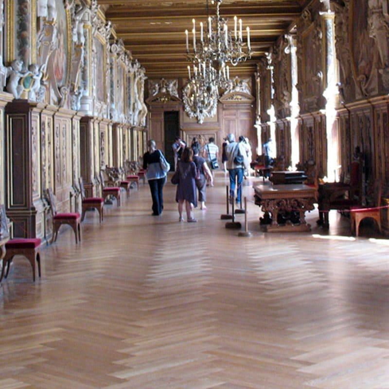 Herringbone Parquetry in Chateau de Fontainebleau
