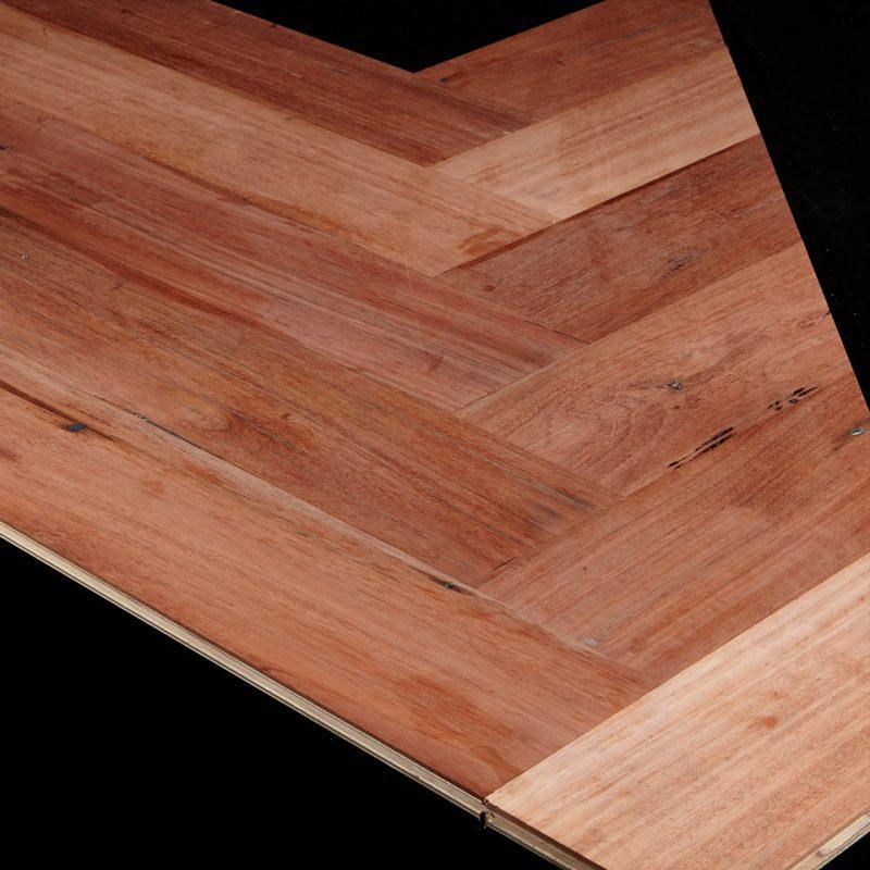 Herringbone Parquet Panels in 100% Recycled Australian Hardwood, Gladstone Pipeline