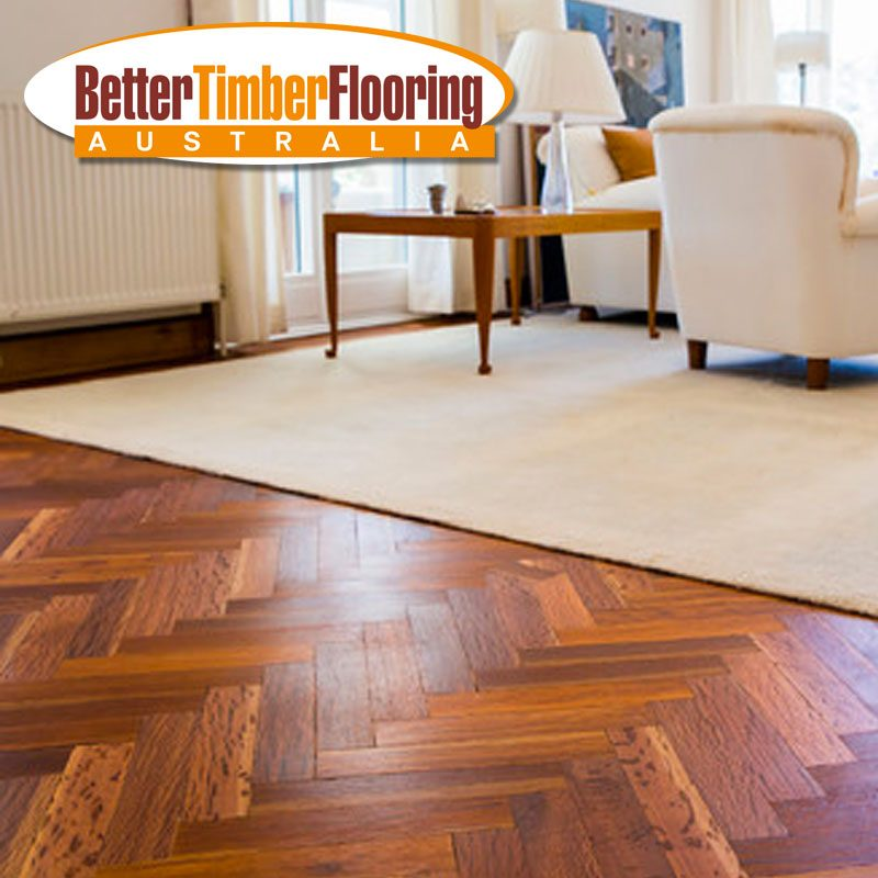 Parquetry Panels with Herringbone Design in Gladstone Pipeline Reds