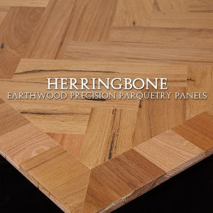Parquetry Panel, Herringbone Design