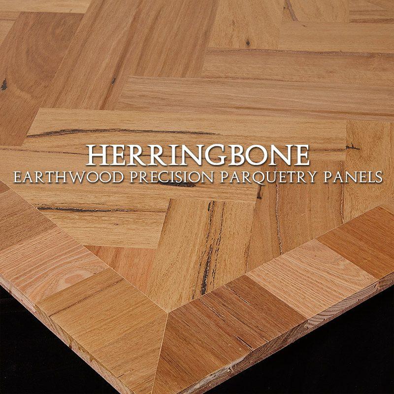 Parquetry Panel, Herringbone Design