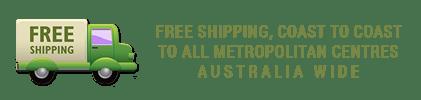 Free Shipping to Metro Areas, Australia