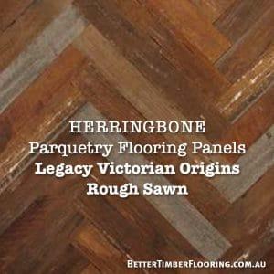 Rough Sawn Parquetry Panels Herringbone