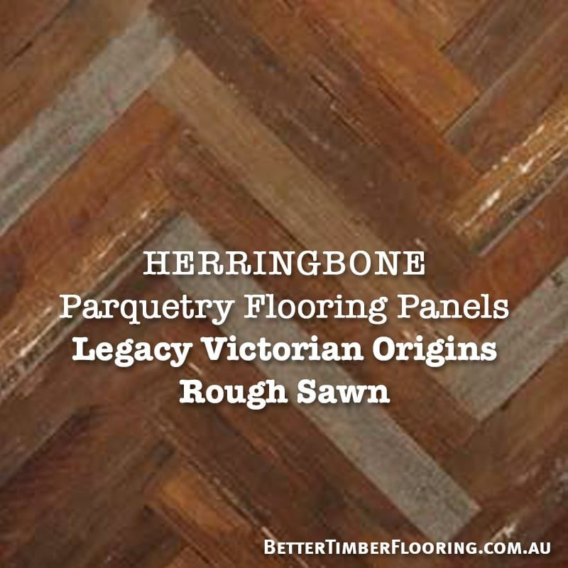 Rough Sawn Parquetry Panels Herringbone