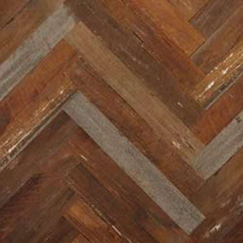 Rough Sawn Parquetry Panels Herringbone in Legacy Victorian Origins
