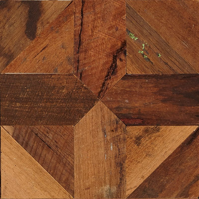 Inner section of Rough Sawn Parquet Flooring panel feat. Bordeaux pattern