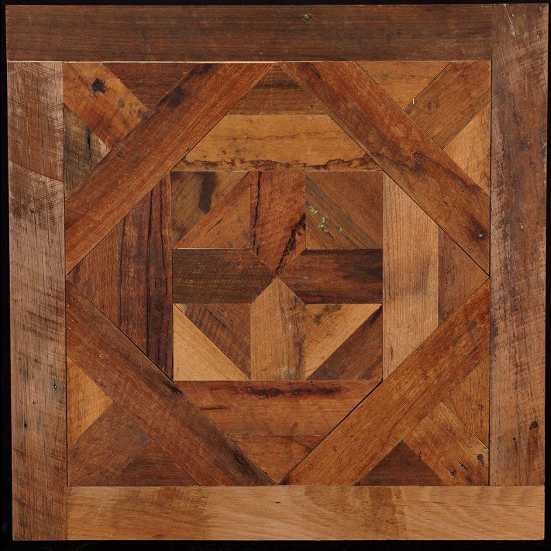 Rough Sawn Parquet Flooring panel feat. Bordeaux pattern - OGI