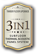 3-IN-1 SUBFLOOR THERMAL ACOUSTIC PANEL SYSTEM