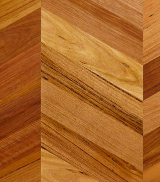 Chevron Parquetry Pre-cut in Victorian Origins.