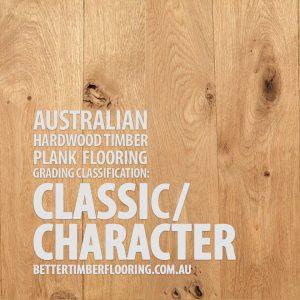 Classic/Character Grade Hardwood Timber Plank Flooring