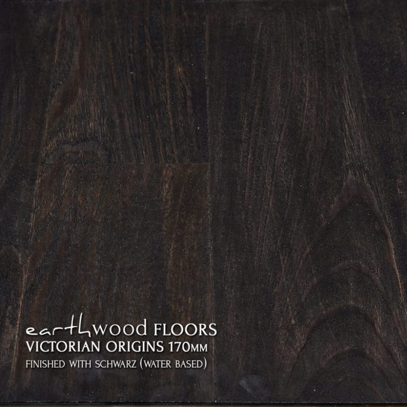 170mm pre-finished engineered flooring 100% Black (schwarz)
