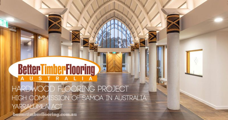 Hardwood Flooring Project for Cox Architecture and High Commission of Samoa in Australia.