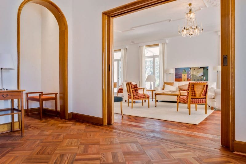 Parquet Timber Floor Project. Swedish Embassy Canberra