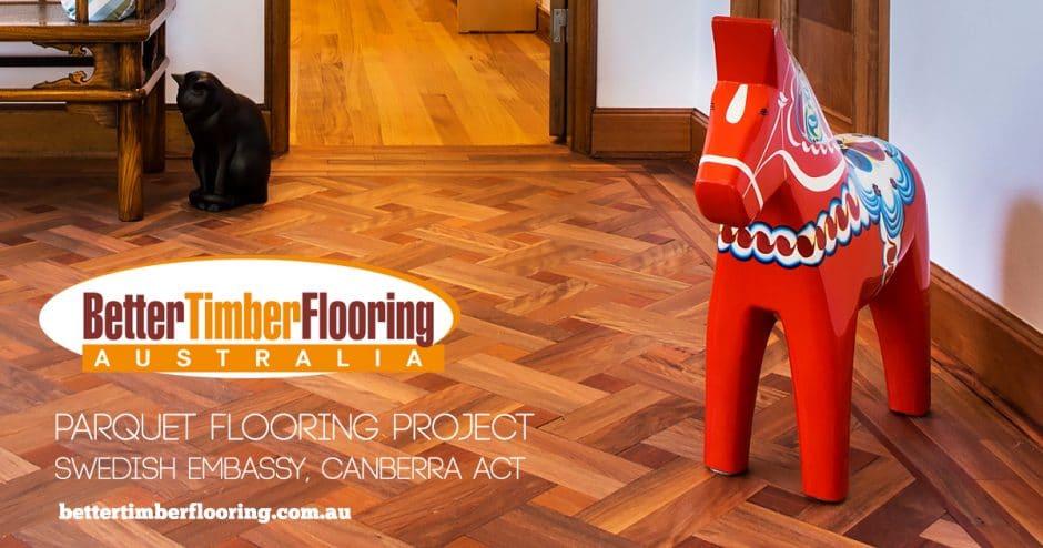 Parquet Flooring Project Swedish Embassy Canberra