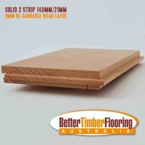 Solid 2 Strip Flooring Showing Cross Section of Floorboard