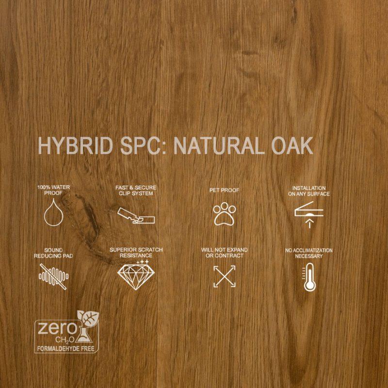 Hybrid SPC Natural Oak Features