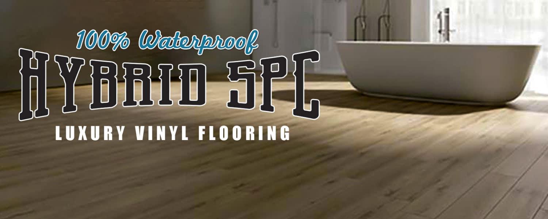 Waterproof Hybrid SPC for Bathroom Floors