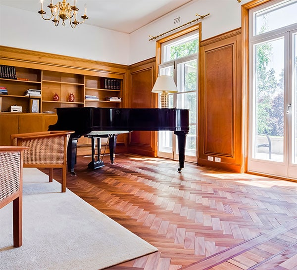Parquetry timber flooring installed in Swedish Embassy